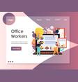 office workers website landing page design vector image vector image