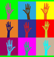 people hand like heart united seamless background vector image vector image