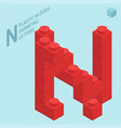 plastic blocs letter n vector image vector image