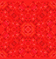 red abstract seamless curved shape kaleidoscope vector image