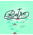 retro word lettering vector image vector image