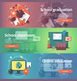 school graduation cap and gown school classroom vector image vector image