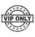 scratched textured vip only stamp seal vector image