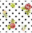 seamless dots style floral pattern vector image vector image