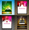 set of attractive brochure of ramadan festival vector image vector image