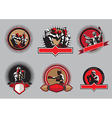Set of boxing icons or emblems vector image