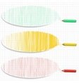 Set of colorful horizontal banners with hatching vector image