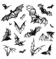 Set of isolated bats vector image