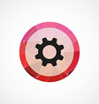 settings circle pink triangle background icon vector image