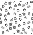 shipping safe delivery seamless pattern vector image vector image