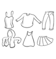 Silhouettes of dresses vector image