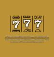 slot machine style font triple sevens jackpot vector image