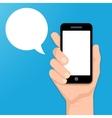 smartphone in hand vector image vector image