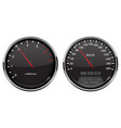 speedometer and tachometer black car dashboard vector image vector image