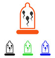 sperm in condom flat icon vector image