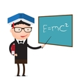 teacher education concept vector image vector image
