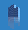 Three skyscrapers on a blue background vector image vector image