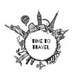 travel and tourism background vector image vector image