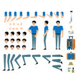 traveller male character creation set - isolated vector image vector image