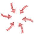 twirl arrows fabric textured icon vector image