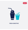 two color fresh smoothie icon from food concept vector image