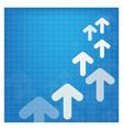 upside growing arrow design vector image