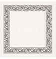 Vintage baroque floral frame vector image