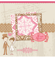 Wedding Scrapbook Card vector image vector image