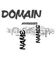 what is a domain name text word cloud concept vector image vector image
