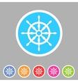 Yacht wheel helm sea icon web sign symbol logo vector image vector image