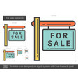 for sale sign line icon vector image