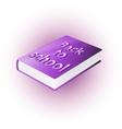 back to school book vector image