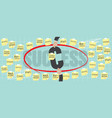 8000x3200 pixel business success concept vector image vector image