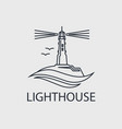abstract lighthouse line icon vector image vector image