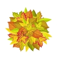 Autumn Leaves Concept in Flat Design vector image vector image