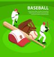 baseball isometric vector image vector image