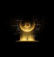 bitcoin concept futuristic digital vector image