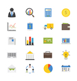 Business and Finance Money Flat Icons color vector image