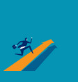 businessman running on arrow concept business vector image