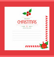 christmas greetings card design with red vector image vector image