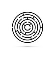 circular maze with way to center business vector image vector image