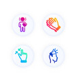 clapping hands friend and touchscreen gesture vector image vector image