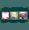 Collection christmas blank templates decorated