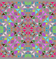 colorful abstract repeating curved shape vector image vector image