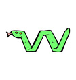 comic cartoon snake symbol vector image vector image