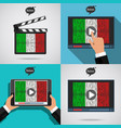 concept of learning languages study italian set vector image vector image