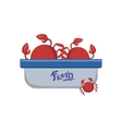 Crabs In Tupperwear Container vector image vector image