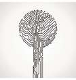 creative electronic tree vector image