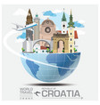Croatia Landmark Global Travel And Journey vector image vector image