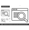 Data search line icon vector image vector image